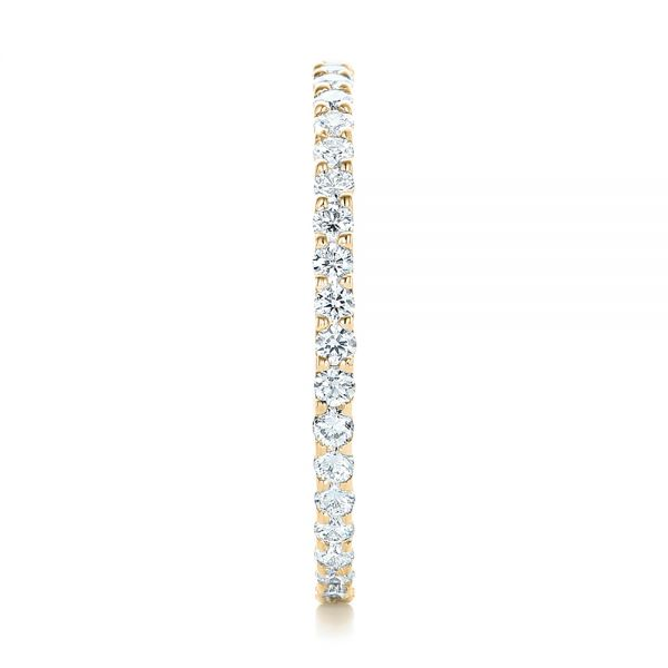 14k Yellow Gold 14k Yellow Gold Diamond Eternity Wedding Band - Side View -