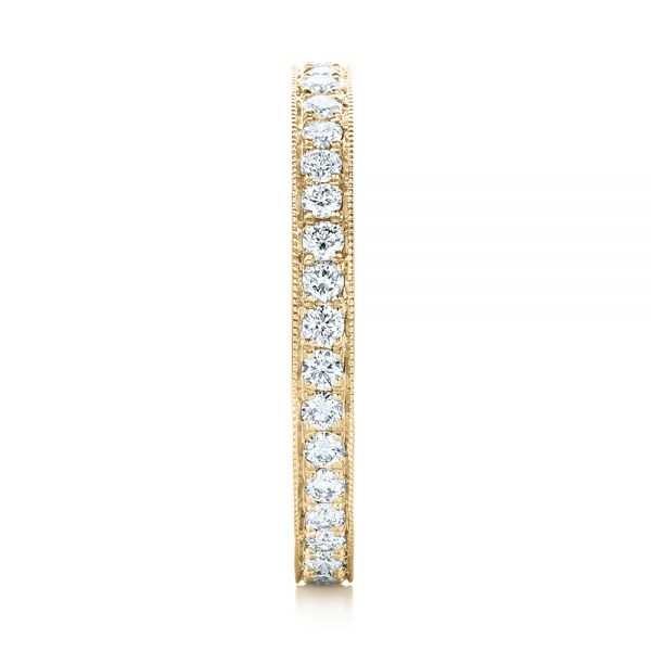 18k Yellow Gold 18k Yellow Gold Diamond Eternity Wedding Band - Side View -  102819