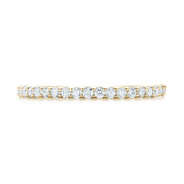 14k Yellow Gold 14k Yellow Gold Diamond Eternity Wedding Band - Top View -