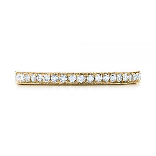 14k Yellow Gold 14k Yellow Gold Diamond Eternity Wedding Band - Top View -  102818