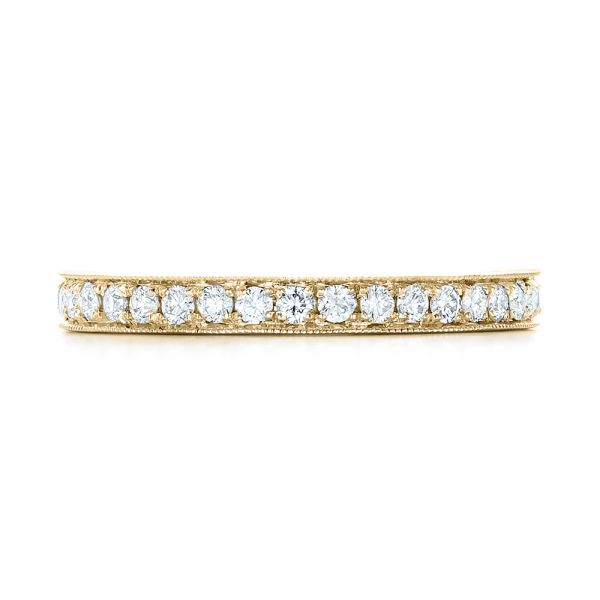 18k Yellow Gold 18k Yellow Gold Diamond Eternity Wedding Band - Top View -  102819