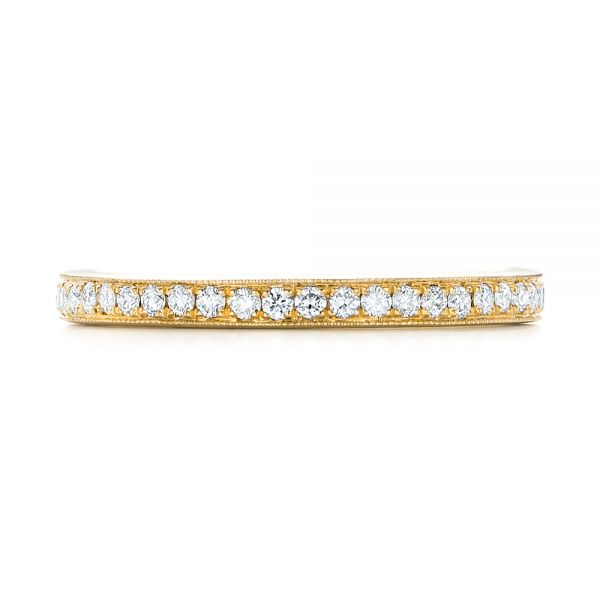 14k Yellow Gold 14k Yellow Gold Diamond Eternity Wedding Band - Top View -  102824