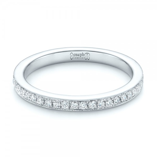 Diamond Eternity Wedding Band - Laying View