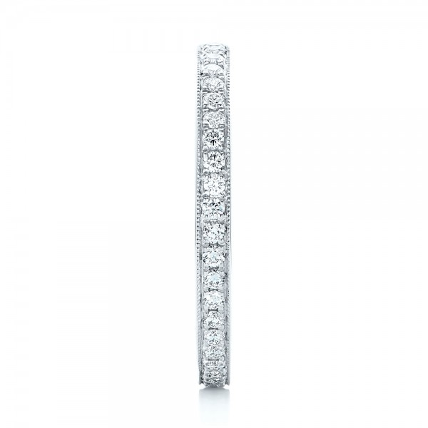 Diamond Eternity Wedding Band - Side View