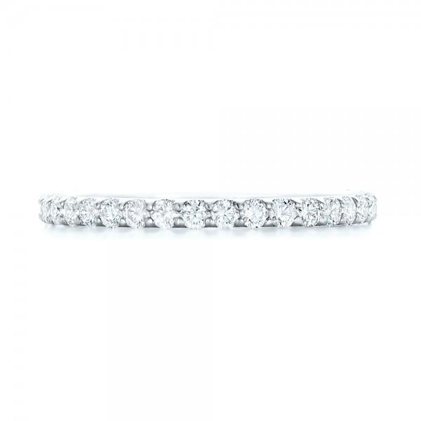 Diamond Eternity Wedding Band - Top View