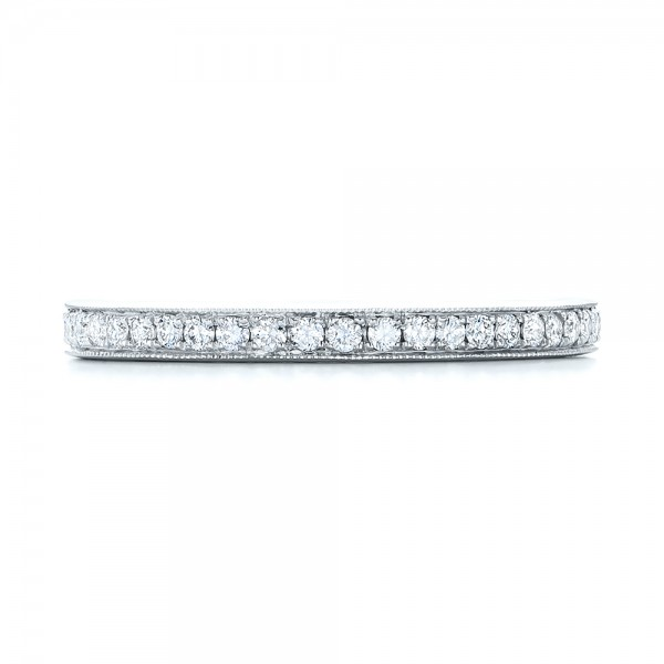 Diamond Eternity Wedding Band - Top View