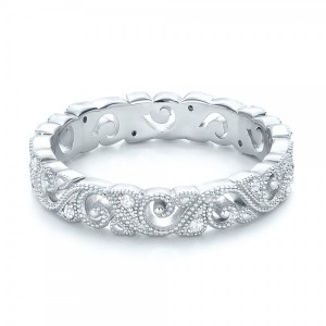 Diamond Organic Stackable Eternity Band