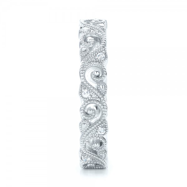 Diamond Organic Stackable Eternity Band - Side View -  101888 - Thumbnail