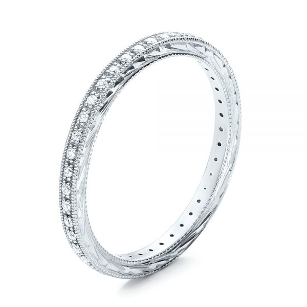 Diamond Stackable Eternity Band - Three-Quarter View -  101895 - Thumbnail