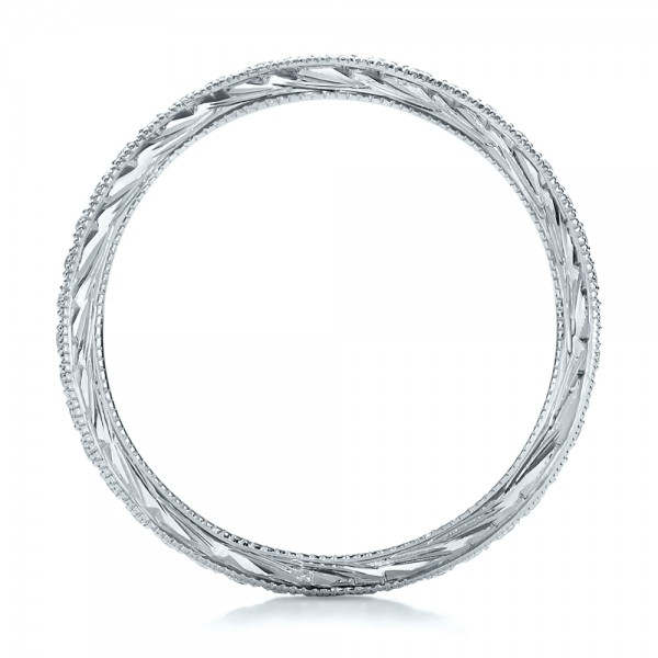 Diamond Stackable Eternity Band - Finger Through View