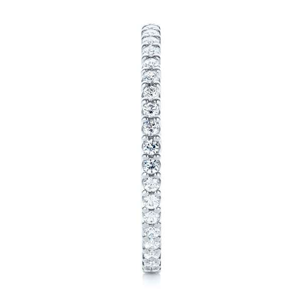 Diamond Stackable Eternity Band - Side View