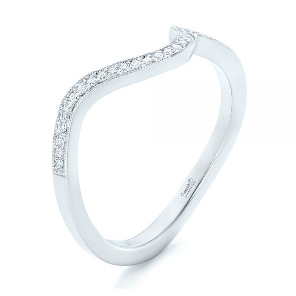 Diamond Wedding Band - Three-Quarter View -  102232 - Thumbnail