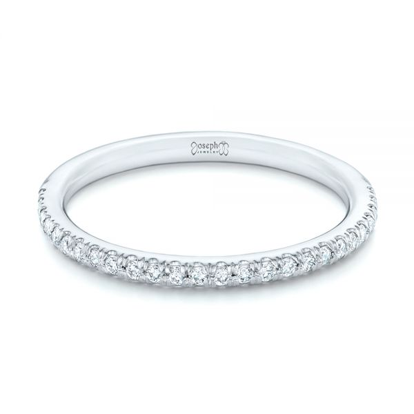Platinum Diamond Wedding Band - Flat View -