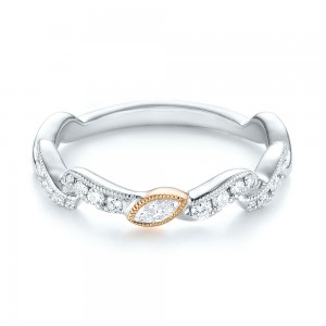 Two-Tone Diamond Wedding Band