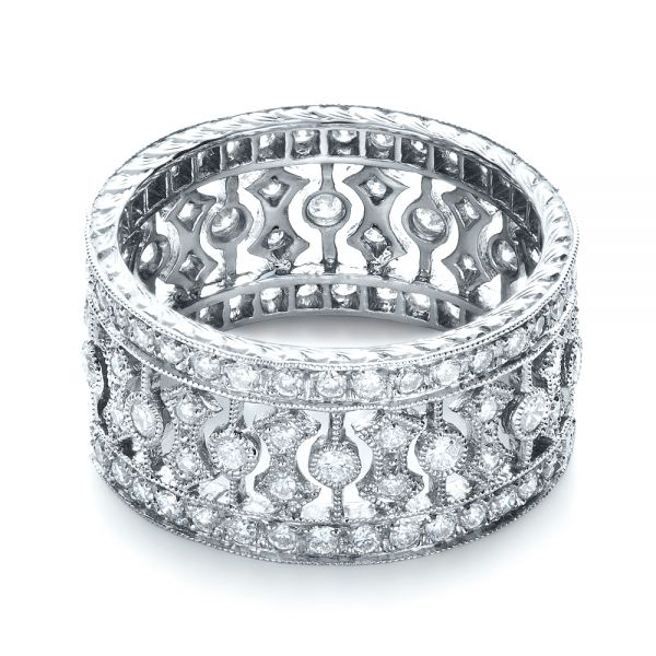 Diamond Women's Anniversary Band - Flat View -  1299 - Thumbnail