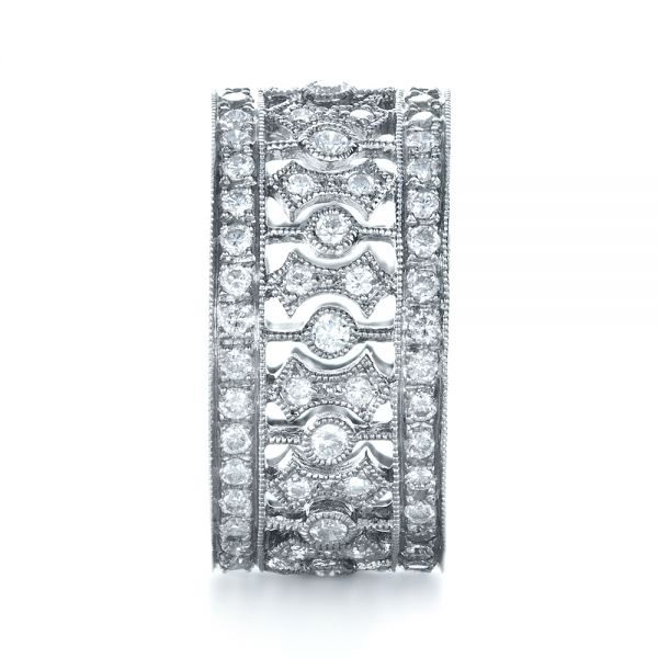 Diamond Women's Anniversary Band - Side View -  1299 - Thumbnail