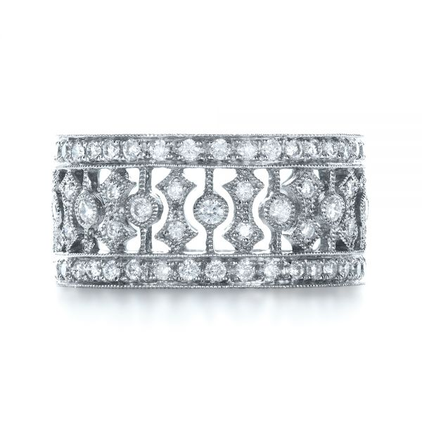 Diamond Women's Anniversary Band - Top View -  1299 - Thumbnail