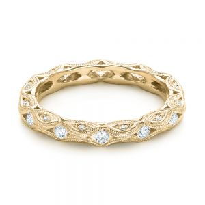 Diamond in Filigree Wedding Band