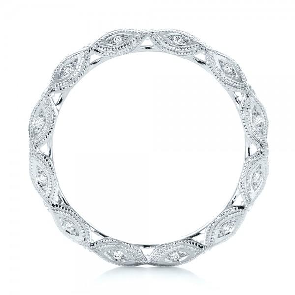 Diamond In Filigree Engagement Ring 102788