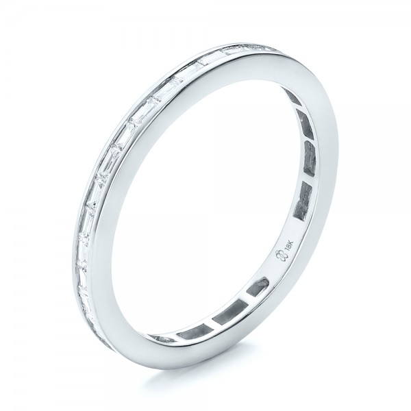 baguette round bands band exquisite ring eternity platinum diamond