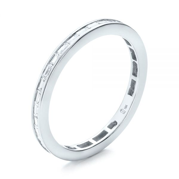 Eternity Baguette Diamond Wedding Band - Image
