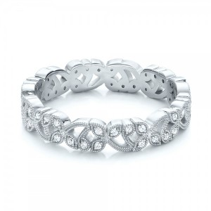 Organic Diamond Stackable Eternity Band