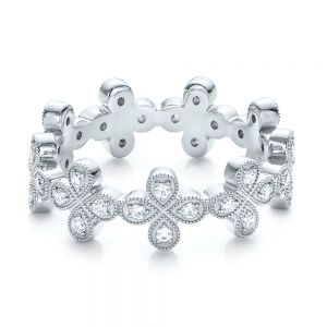 Floral Diamond Stackable Eternity Band