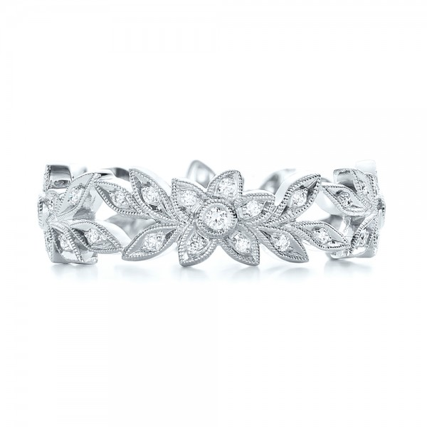 Flower Eternity Band - Top View