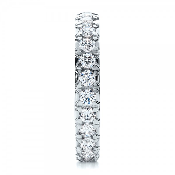 French Cut Diamond Eternity Band - Side View