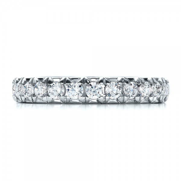 French Cut Diamond Eternity Band - Top View