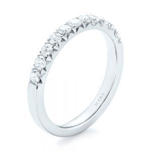 French Cut Diamond Wedding Band - Image