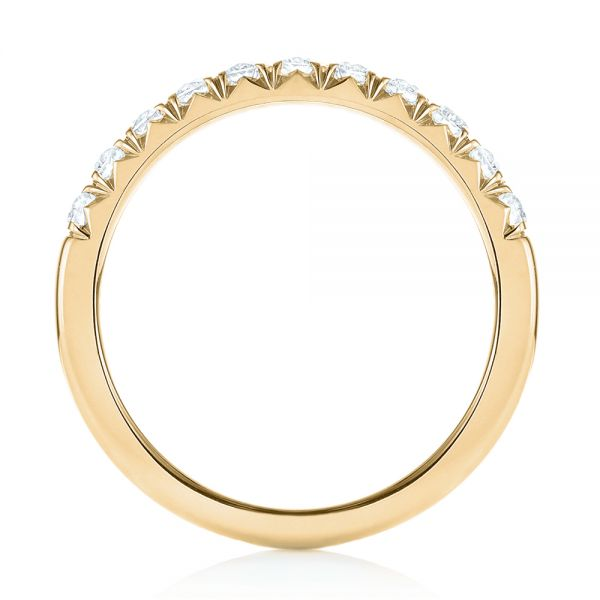 18k Yellow Gold 18k Yellow Gold French Cut Diamond Wedding Band - Front View -  103704
