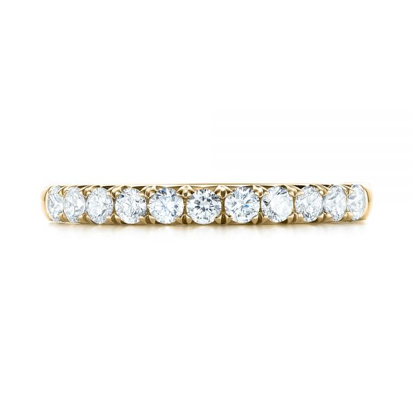 18k Yellow Gold 18k Yellow Gold French Cut Diamond Wedding Band - Top View -  103704