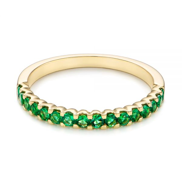 Green Emerald Wedding Band