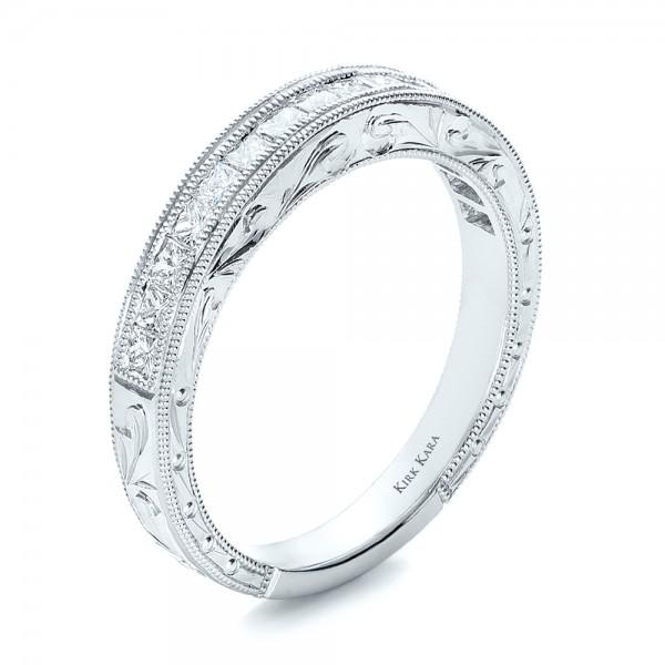 Hand Engraved Wedding Ring Kirk Kara 100475