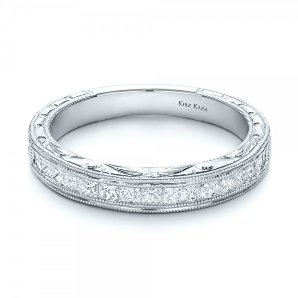 Hand Engraved Wedding Ring - Kirk Kara