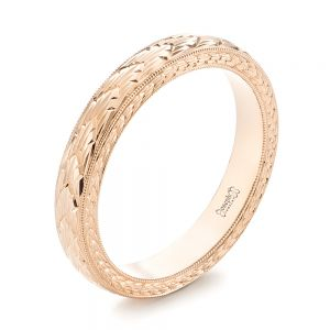 Hand-engraved Women's Wedding Band