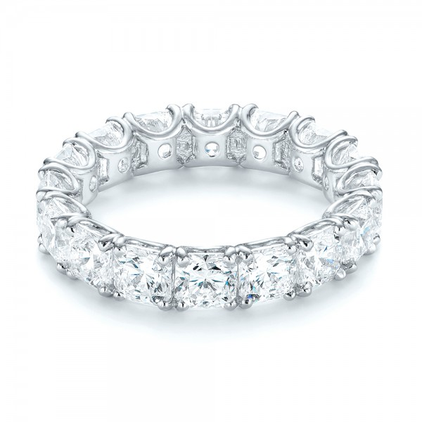 Ideal Square Eternity Wedding Band - Laying View