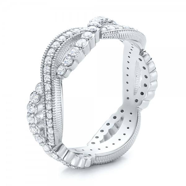 Infinity Diamond Stackable Eternity Band