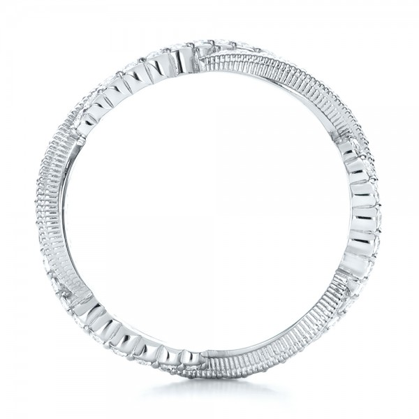 Infinity Diamond Stackable Eternity Band - Finger Through View