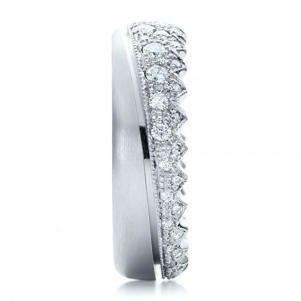 Women's Pave Diamond Wedding Band - Side View