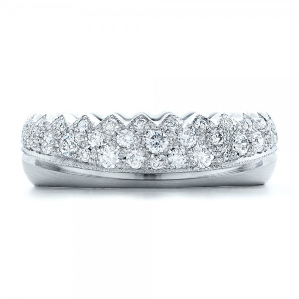 Women's Pave Diamond Wedding Band - Top View