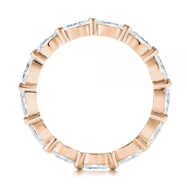 14K Rose Gold Marquise Diamond Eternity Wedding Band - Front View -  105187 - Thumbnail