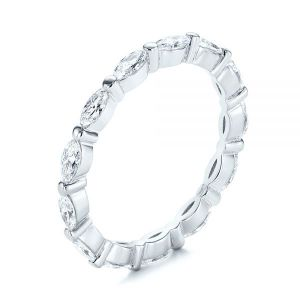 Marquise Diamond Eternity Wedding Band - Image