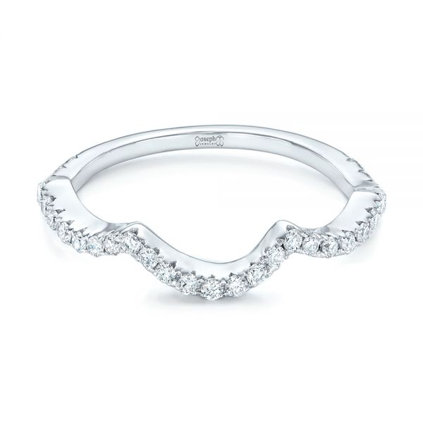 Platinum Platinum Matching Diamond Wedding Band - Flat View -  102476