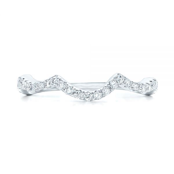 Platinum Platinum Matching Diamond Wedding Band - Top View -  102476