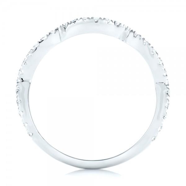 Matching Diamond Wedding Band - Finger Through View