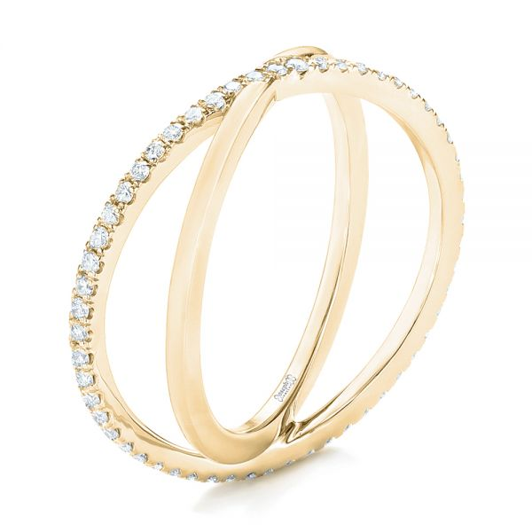 18k Yellow Gold 18k Yellow Gold Orbit Eternity Diamond Band - Three-Quarter View -  103317