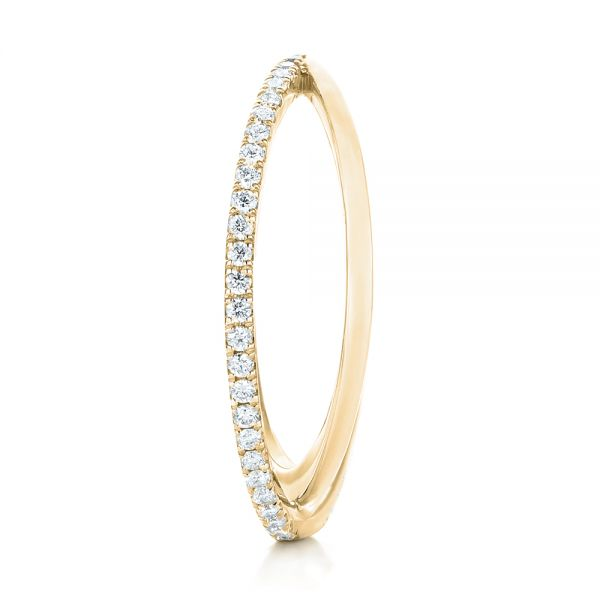 18k Yellow Gold 18k Yellow Gold Orbit Eternity Diamond Band - Side View -  103317