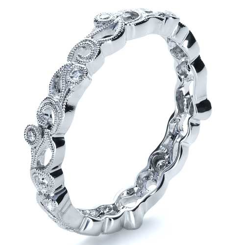 Organic Diamond Eternity Band